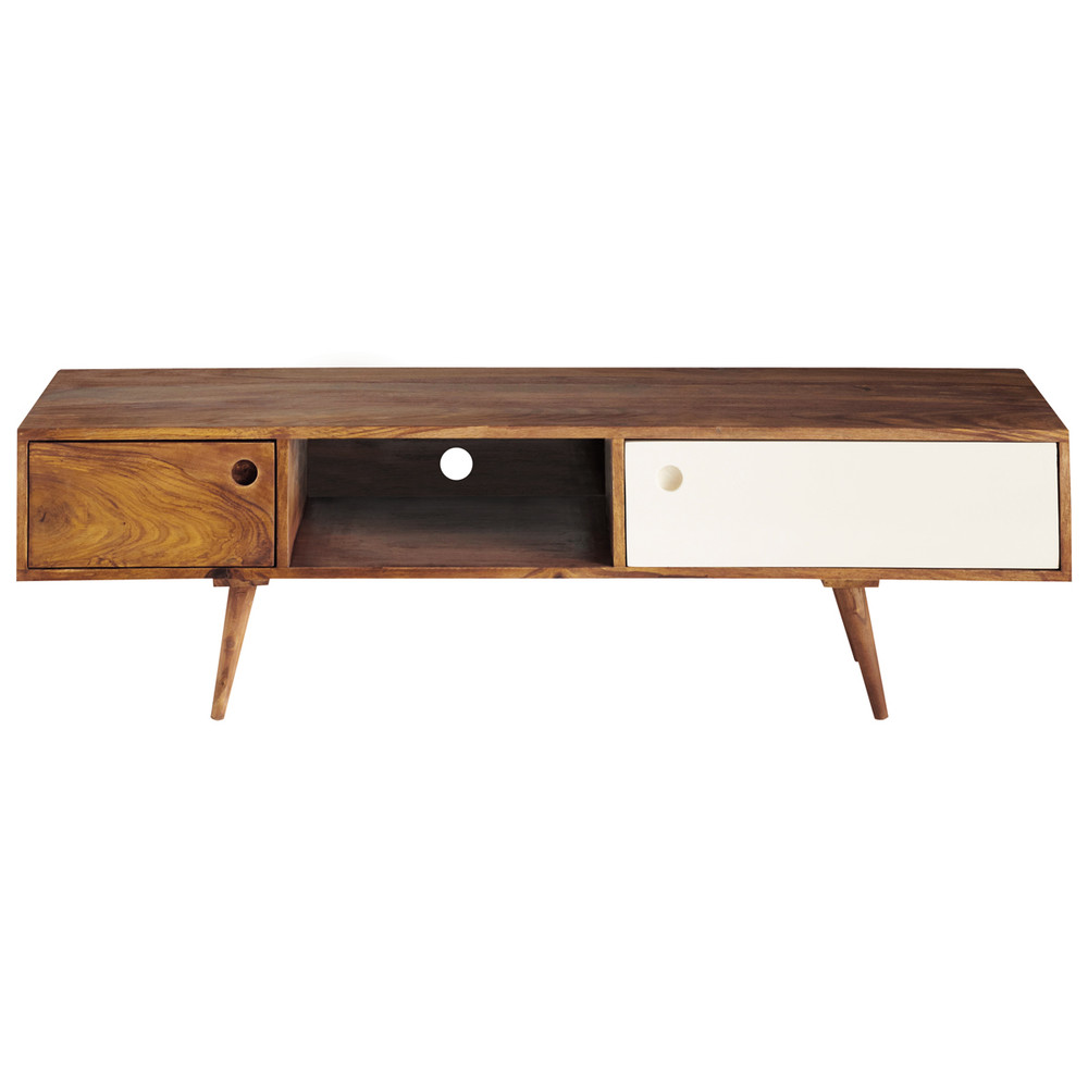 Mueble Tv Retro Sheesham Wood Vintage Tv Unit W 140cm Andersen | Maisons
