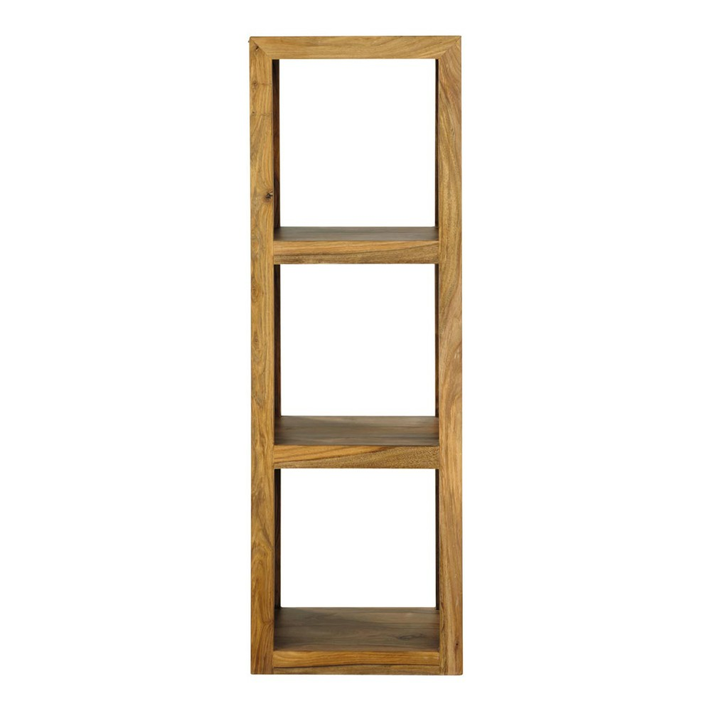 Solid Sheesham Wood Shelf Tower Unit H 104cm Stockholm Maisons Du Monde