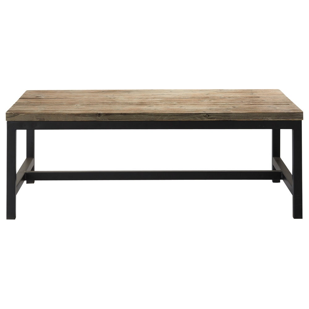 Couchtisch Maison Du Monde Wood And Metal Industrial Coffee Table W 100cm Long Island