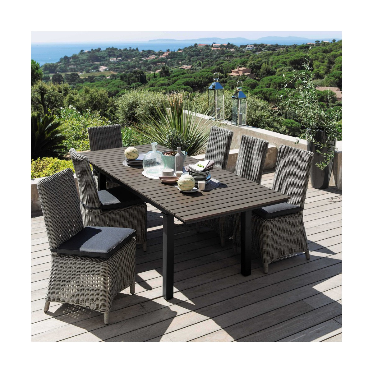 Salon De Jardin Teck Et Aluminium Table De Jardin Aluminium Et Composite Best Best Table De