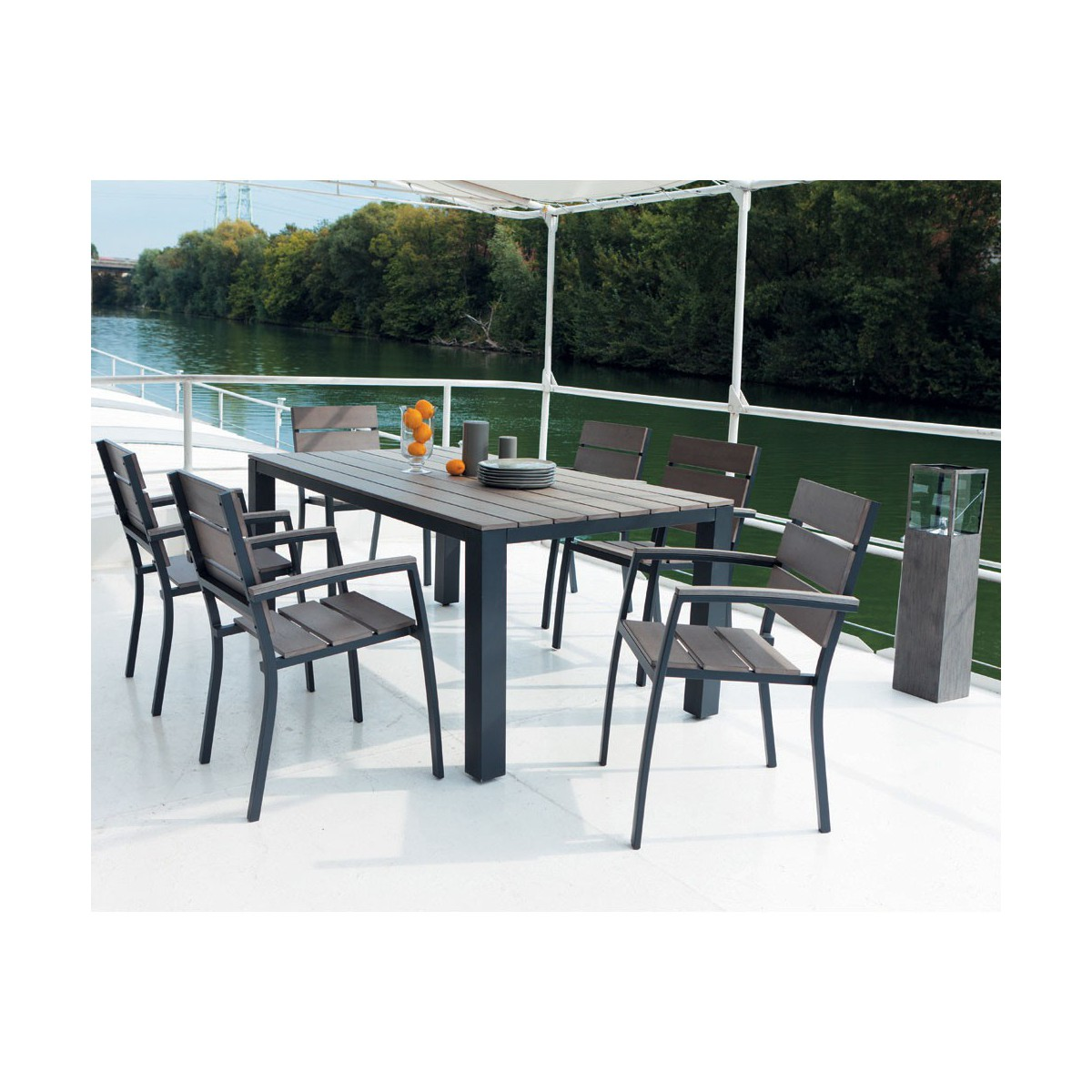 Table De Jardin Imitation Bois | Promotion Carrefour Table De Jardin ...