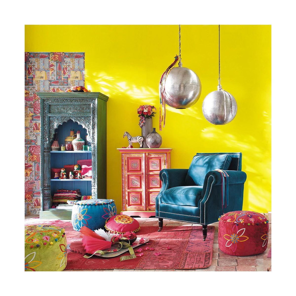 Fauteuil Bleu Canard Maison Du Monde   Maison And Objet Janvier 2015 ...