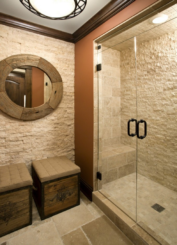 12 Luxury Bathrooms With Stone Walls Maison Valentina Blog