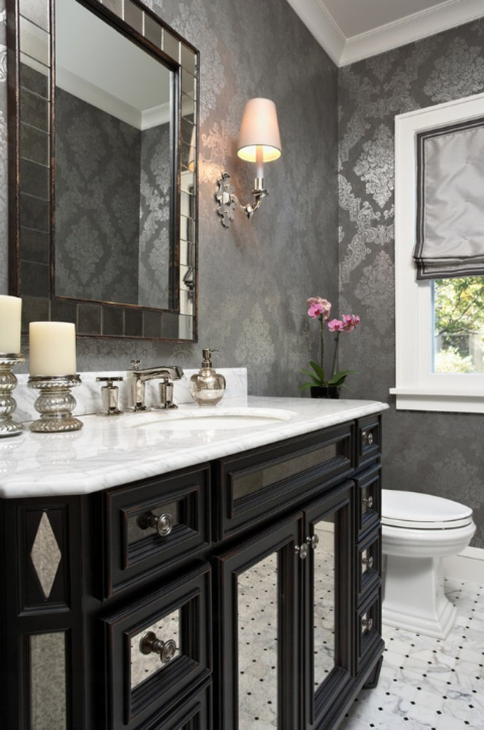 Gorgeous Wallpaper Ideas for your Modern Bathroom - bathroom wallpaper ideas
