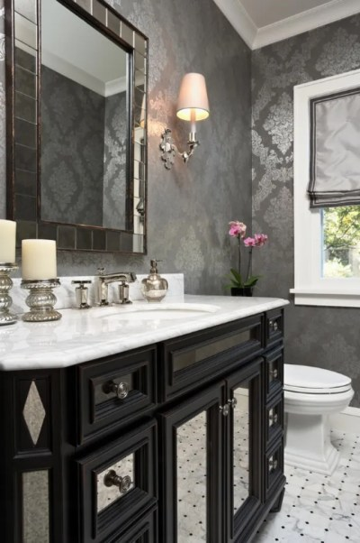 Gorgeous Wallpaper Ideas for your Modern Bathroom
