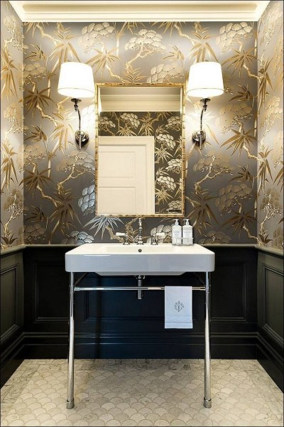 Gorgeous Wallpaper Ideas for your Modern Bathroom