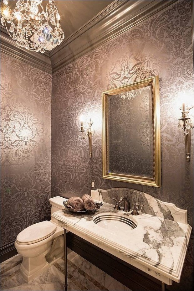 gorgeous wallpaper ideas for bathrooms