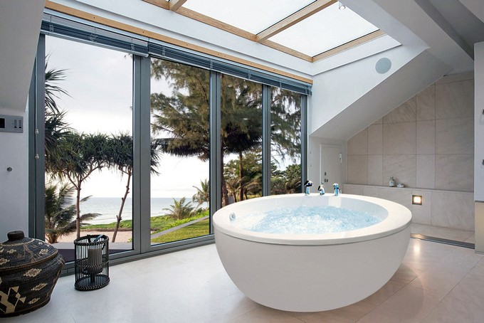 Kohler Shower Lighting Make A Splash Into Your Bathroom With Floor-to-ceiling Windows
