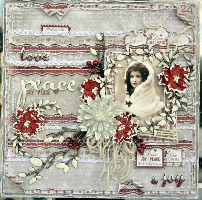 Gorgeous winter layout by Rachelle