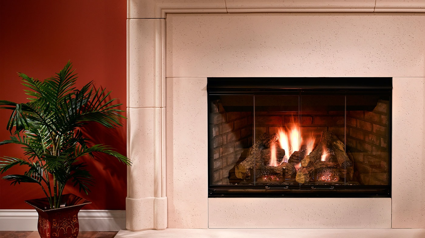 Novus Fireplace Reveal B Vent Gas Fireplace Majestic Products