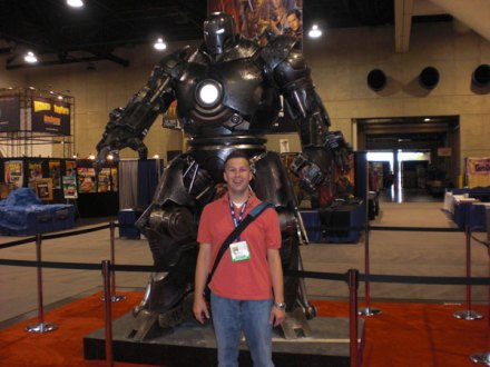Wes in front of the Iron Monger display