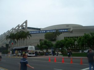 Outside the convention center