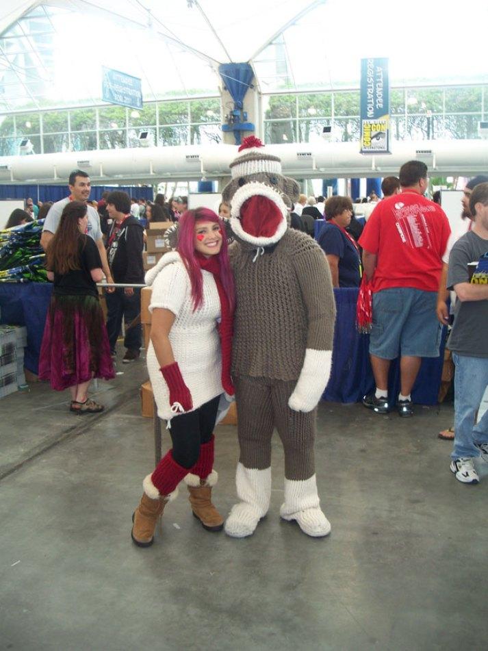 Hey, look! It's Sock Monkey