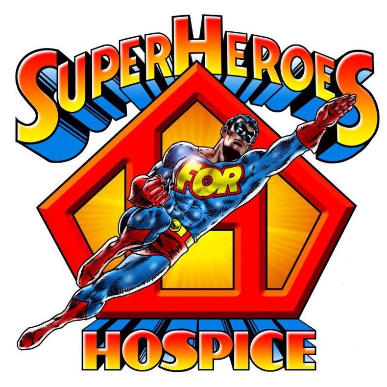Superheroes For Hospice flying logo
