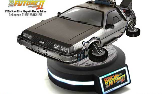 Magnetic_Floating_DeLorean_1