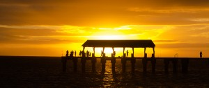 Waimea Pier at Sunset