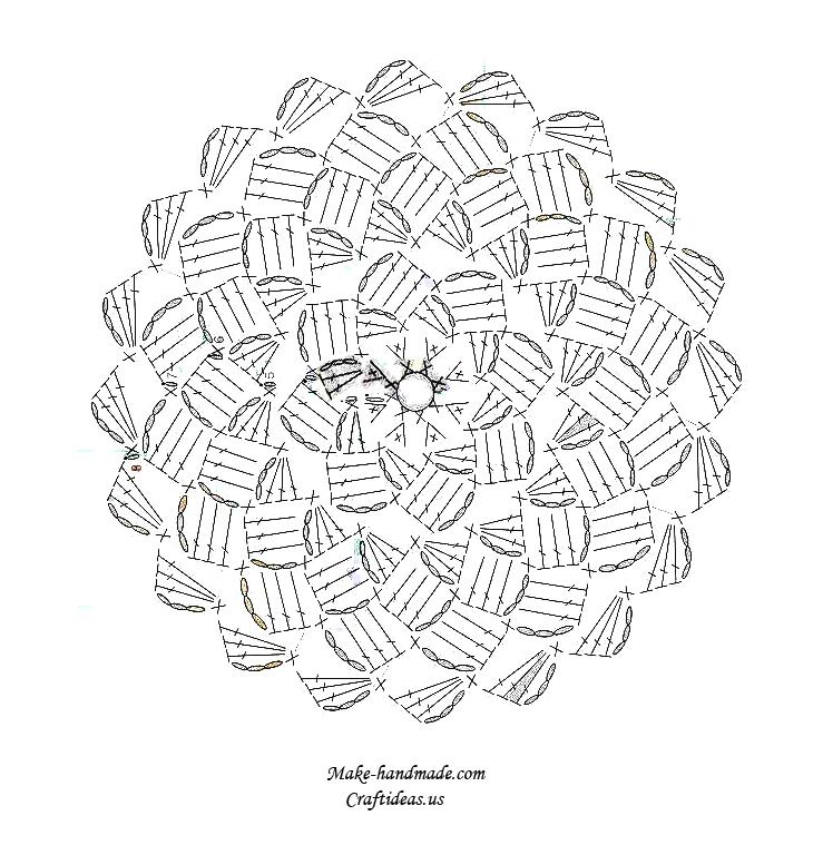dinah crochet crochet daisy dish cloth