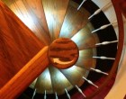 Custom LED Spiral Staircase Lighting