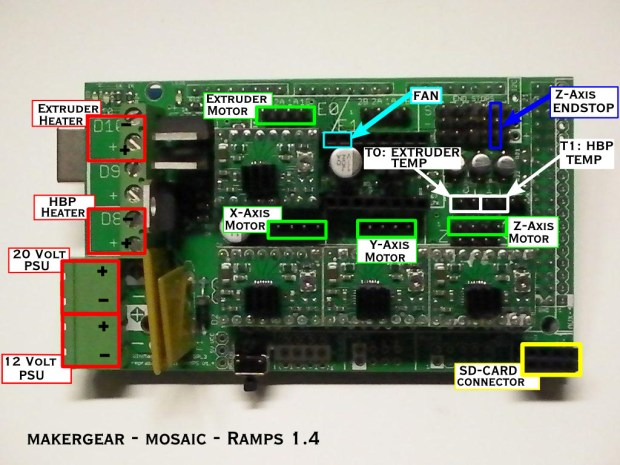 The MakerGear Mosaic 3D Printer – Part VII: The Electronics