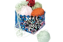 Scrap Paper Woven&nbsp;Basket
