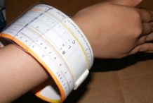 Wearable Slide Rule Bangle&nbsp;Bracelet