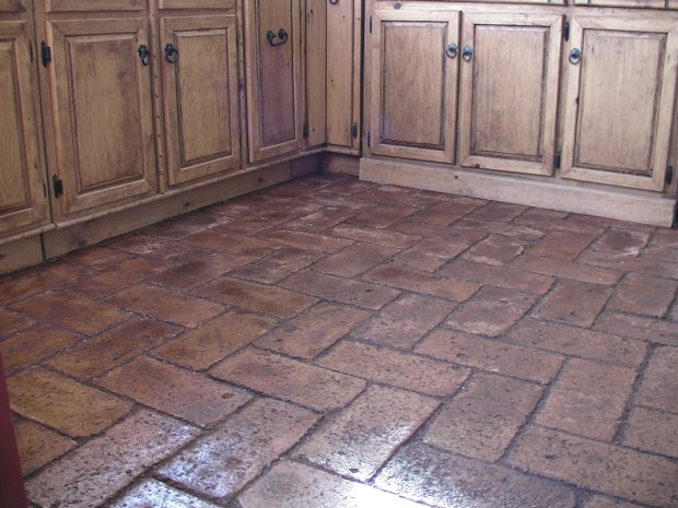 Cheap and Easy Earth Block Floors