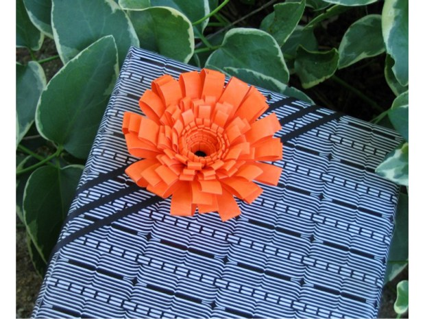 Fringed Flower Gift Topper