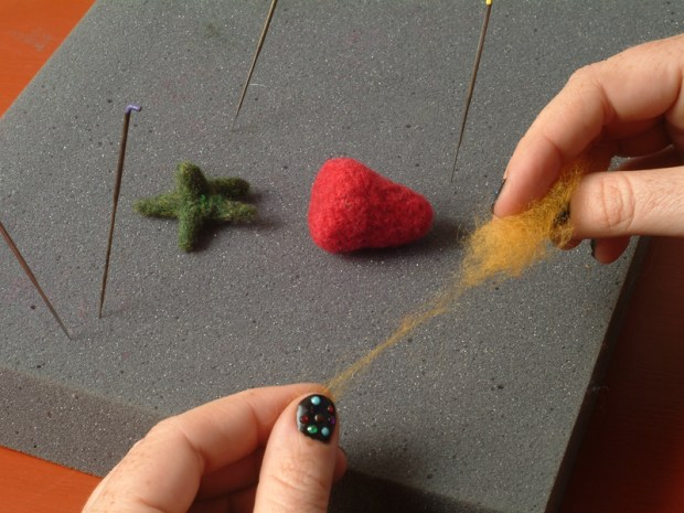 Felted Fruit