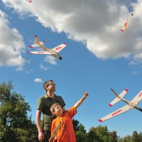 Folding-Wing Glider: Rockets Up &#8230; Glides&nbsp;Down!