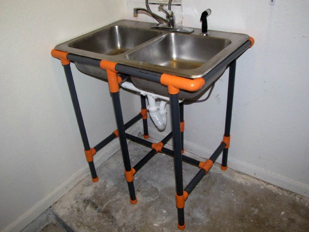 PVC Sink Stand