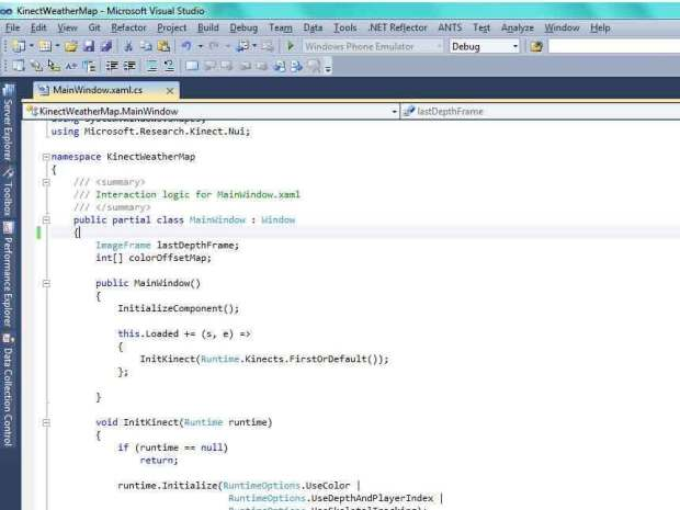 Kinect Hacking: WeatherMap