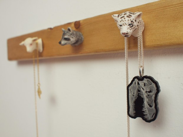 Animal Figurine Jewelry Rack