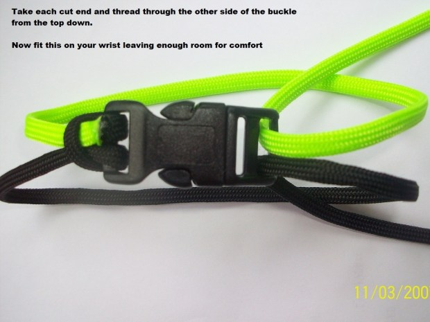 How to make a paracord 550 survival bracelet