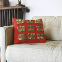 Fringy Loom-Woven&nbsp;Pillow