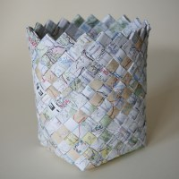 Woven Map&nbsp;Basket