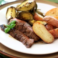 Grilled Balsamic Basil Flank&nbsp;Steak