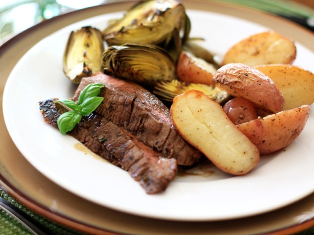 Grilled Balsamic Basil Flank Steak