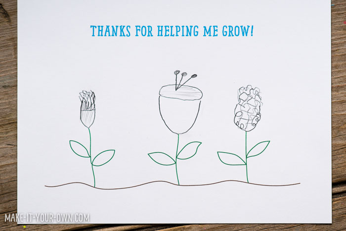 School Wrap-Up Flower Thank you Card