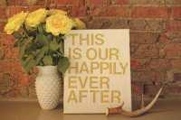 DIY Wall Art Using Inspirational Quotes!