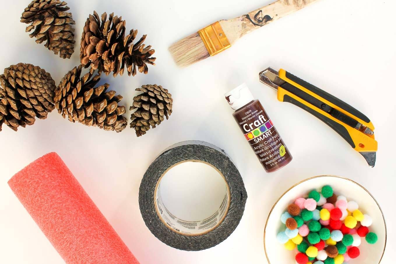 Diy Wreath Supplies Diy Pinecone Wreath Tutorial With Mini Pom Poms