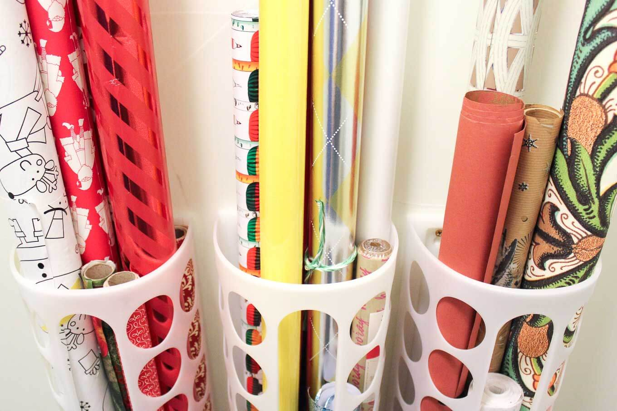 Diy Vertical Wrapping Paper Storage Idea Ikea Hack