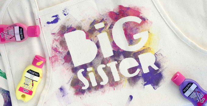 """New Big Brother or Big Sister Gift Idea: Hand Painted """"Helper"""" Aprons"""