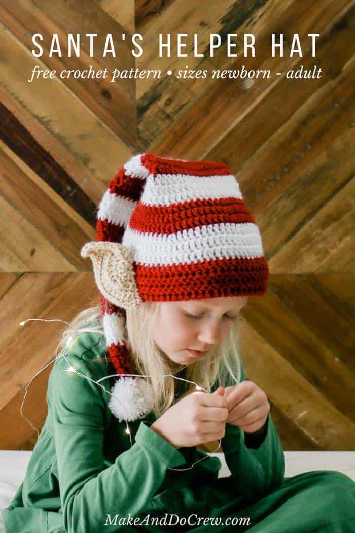 Santa\u0027s Helper Free Crochet Elf Hat Pattern (With Ears!)