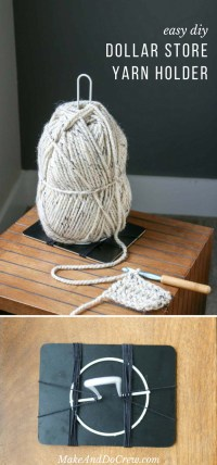 Inexpensive DIY Yarn Holders from Household Items - Make ...