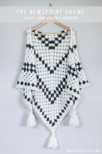 Newsprint Crochet Granny Stitch Shawl - free pattern from ...
