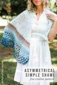 Rising Tide Asymmetrical Crochet Triangle Shawl - Free ...