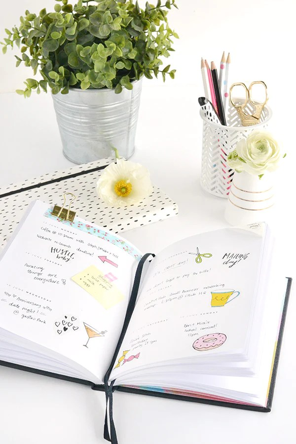 Colourful printable diary stickers \u2013 Make and Tell