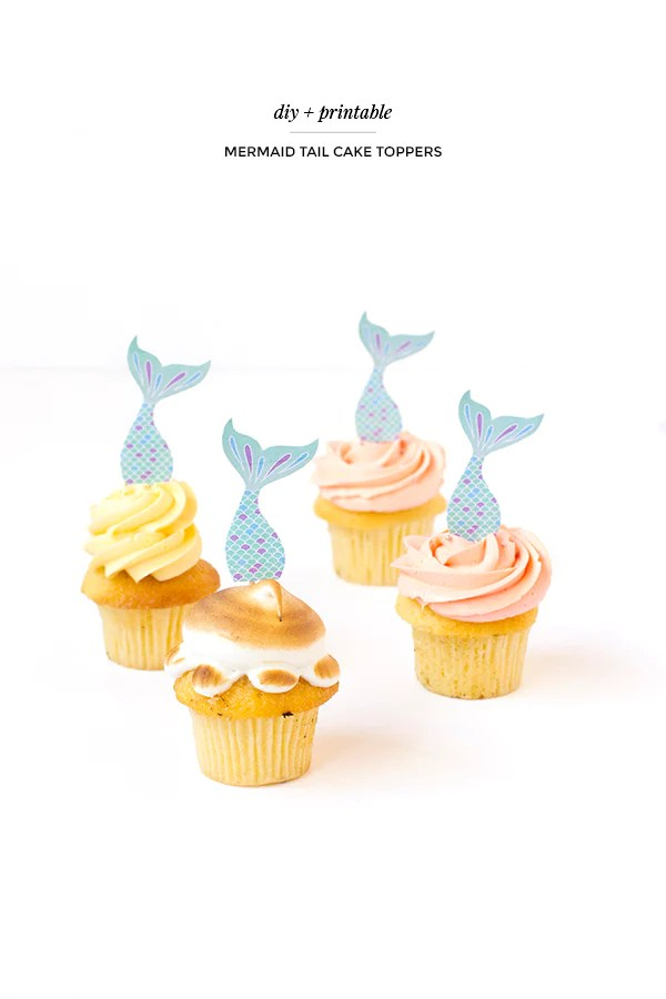 Printable mermaid tail cake toppers \u2013 Make and Tell