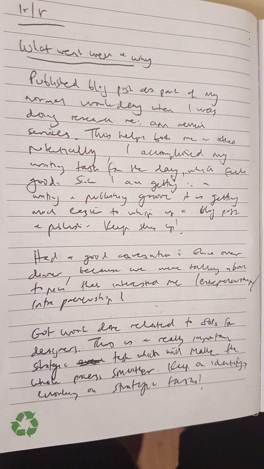 journaling example: gratitude