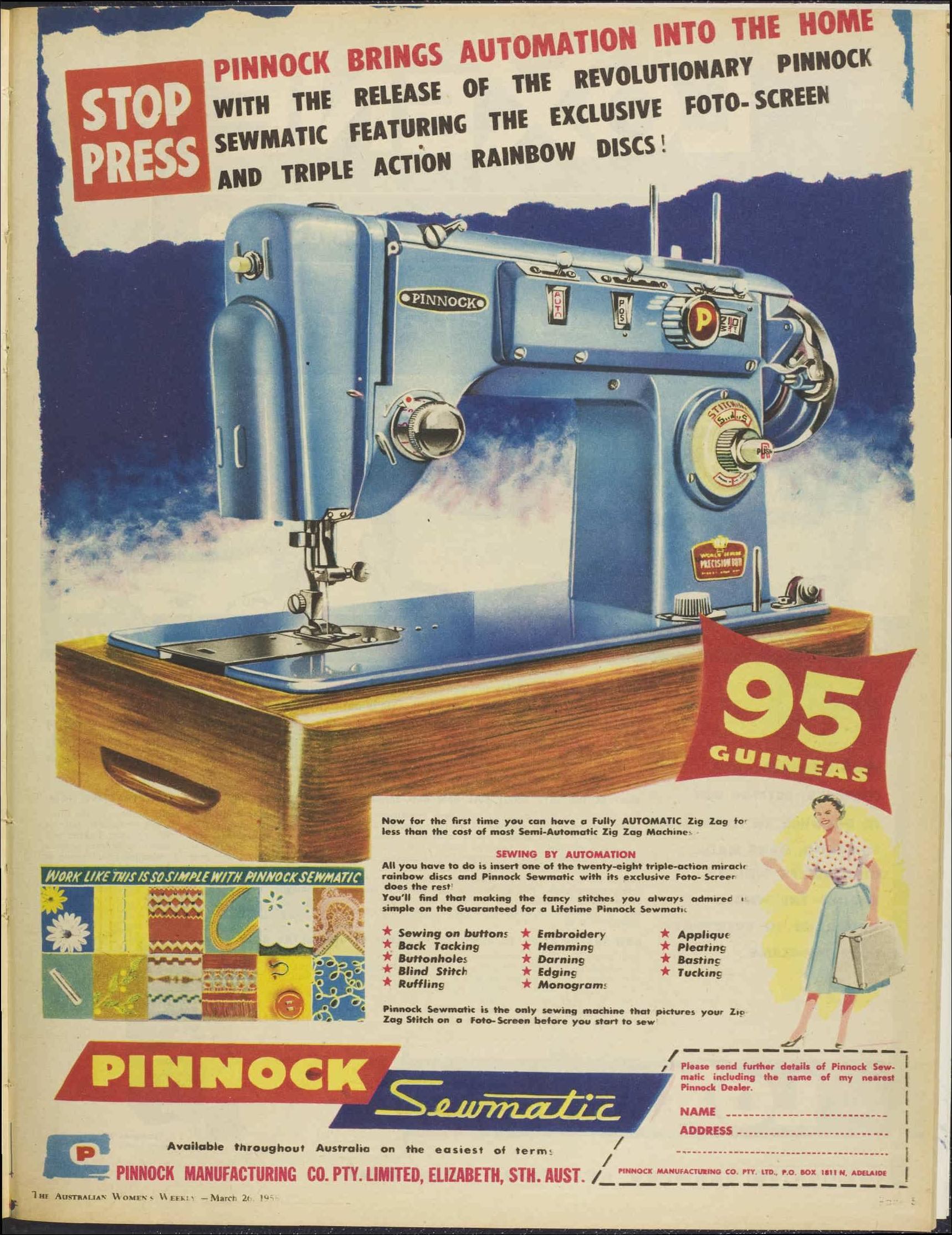 Cheap Sewing Machines Australia Pinnock Part 1 Makebakesisters